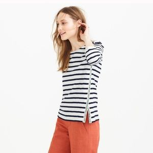 💙J.CREW beaded striped top size XS